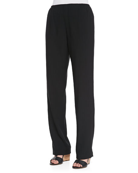 Cabo Straight-Leg Pants, Black