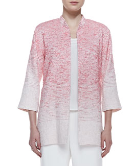Caroline Rose Long Textured Ombre Jacket