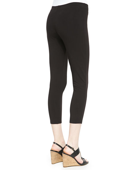 Stretch-Knit Cropped Leggings