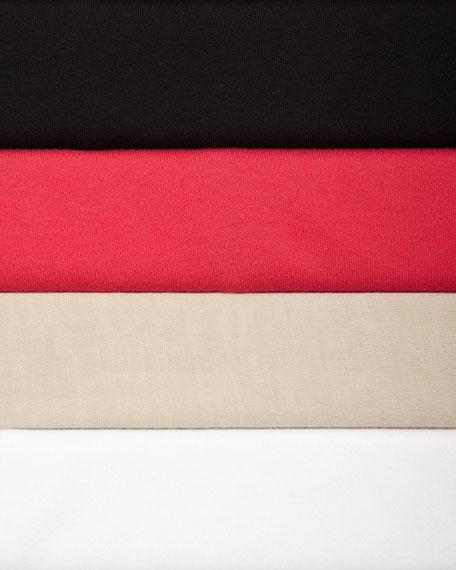 Interlock-Knit High-Low Tunic, Petite