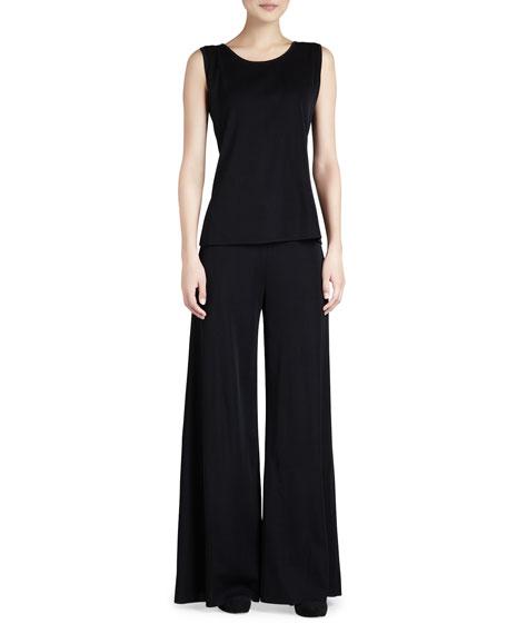 Fit & Knit Palazzo Wide-Leg Pants, Women's