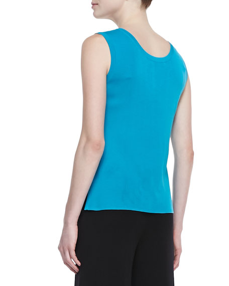 Scoop-Neck Sleeveless Tank Top