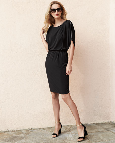 Alice Dolman-Sleeve Jersey Dress