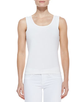 Michael Simon Solid Jersey Shell Top, Women's