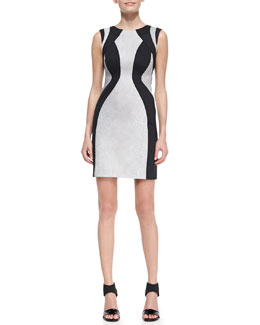 Valentina Shah Ludovica Stingray Printed Dress