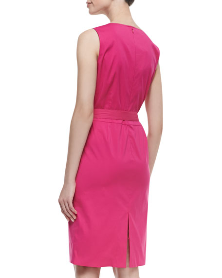 Mia Sleeveless Belted Dress