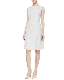 Lafayette 148 New York Hepburn Self-Belt Dress