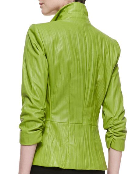 Lorenzo Lambskin Jacket, Grass