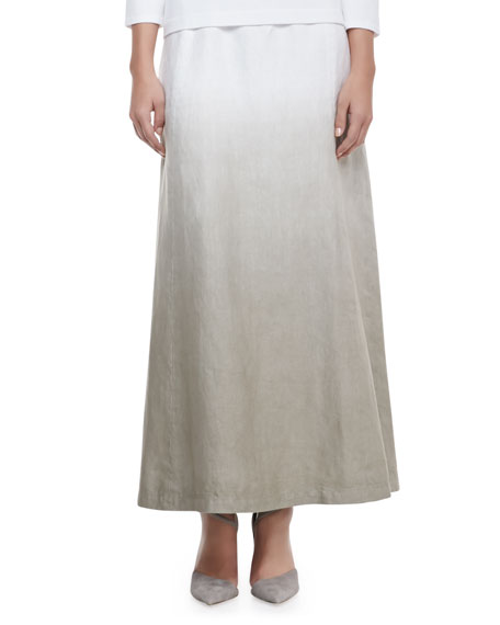 Hailey Dip-Dye Linen Maxi Skirt