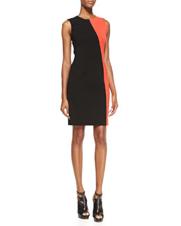 DKNY Sleeveless Colorblock Sheath Dress