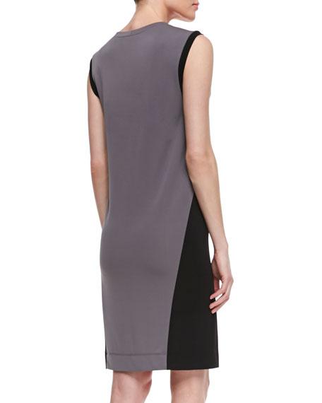 Shift Colorblock Crewneck Dress