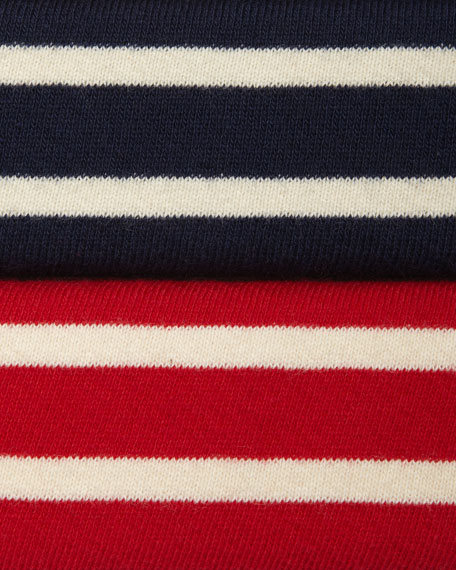 Long-Sleeve Striped Cardigan