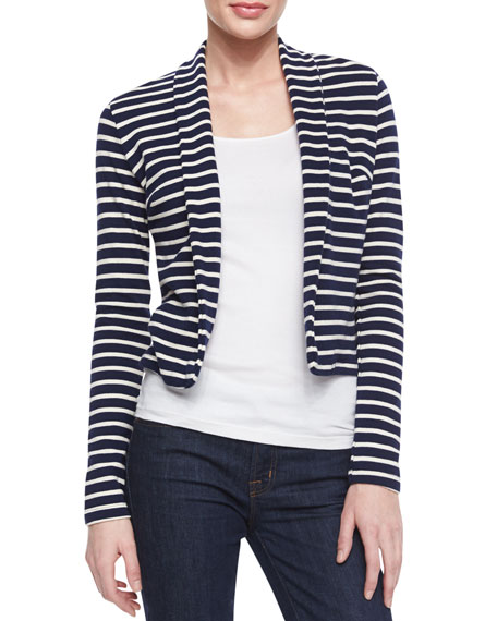 Long-Sleeve Striped Cardigan