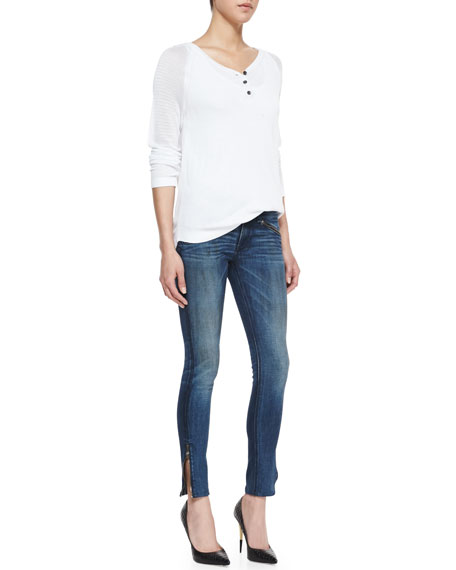 RBW 23 Cropped Jeans, Oil Stain