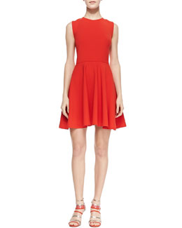 Diane von Furstenberg Jeannie Fit-and-Flare Dress, Chili Pepper