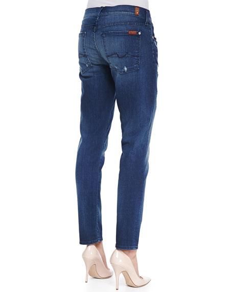Josefina Boyfriend Denim Jeans, Med Blue