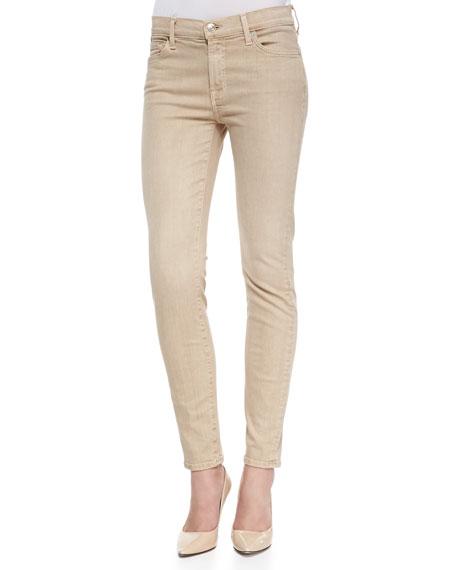 Ankle Skinny Khaki Sandwich Twill Jeans