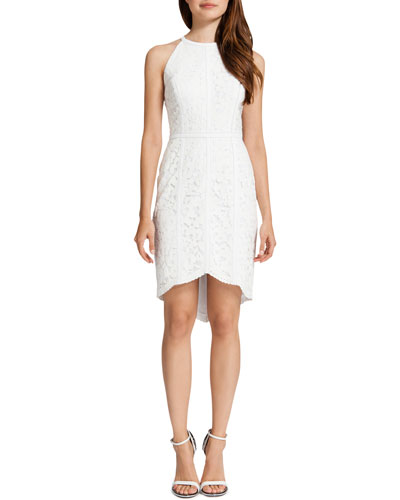 Cynthia Steffe Ryder Lace Halter Style Dress, Lily White