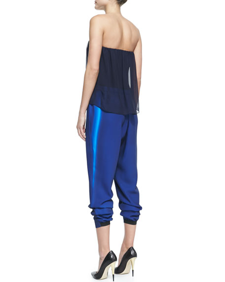 Bowery Strapless Cropped Jumpsuit