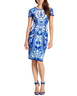Cynthia Steffe Briella Printed Sheath Dress