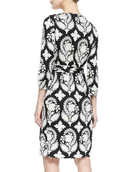 New Julian Two Indian Brocade-Print Wrap Dress