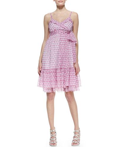 Diane von Furstenberg Queenie Sleeveless Printed Chiffon Dress