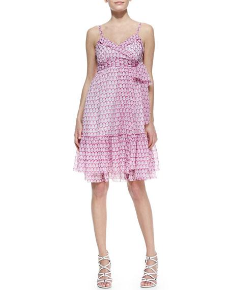 Queenie Sleeveless Printed Chiffon Dress