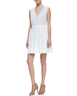 Diane von Furstenberg Shilo Sleeveless V-Neck Dress, White