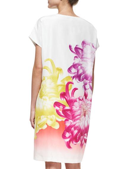 Harriet Tropical Peony Shift Dress