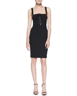 Diane von Furstenberg Scotland Tank Corset Sheath Dress