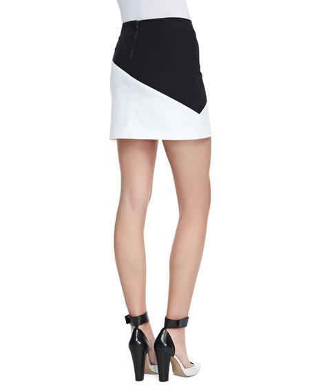 Derrico Two-Tone Miniskirt