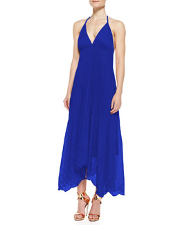 Alice + Olivia Adalyn Pleated Georgette Maxi Dress