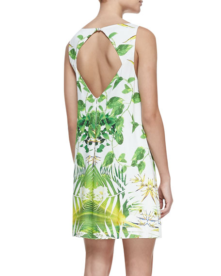 Trina Tropical Cutout-Back Dress