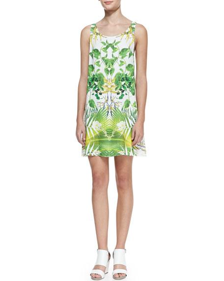 Alice + Olivia Trina Tropical Cutout-Back Dress