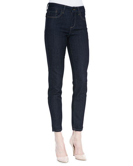 Ami Denim Leggings with Contrast Stitching