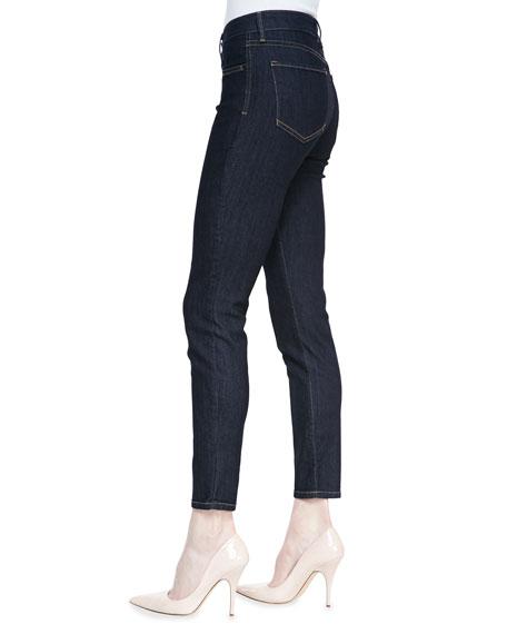 Ami Denim Leggings with Contrast Stitching