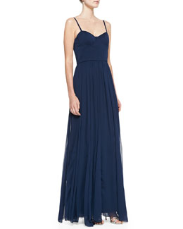 Alice + Olivia Percie Bustier Maxi Dress
