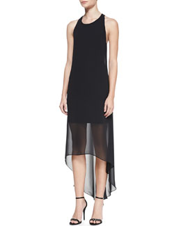 Alice + Olivia Lisk High-Low T-Back Dress
