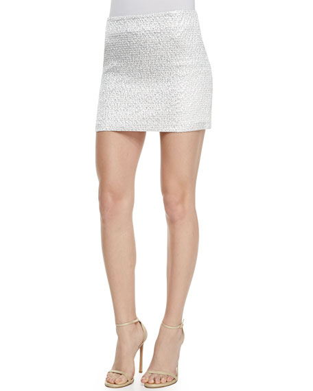 Elana Shiny Mini Skirt