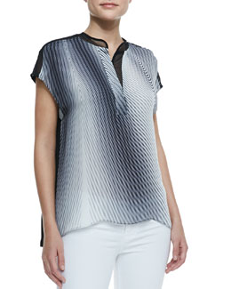 Elie Tahari Midtown Short-Sleeve Blouse