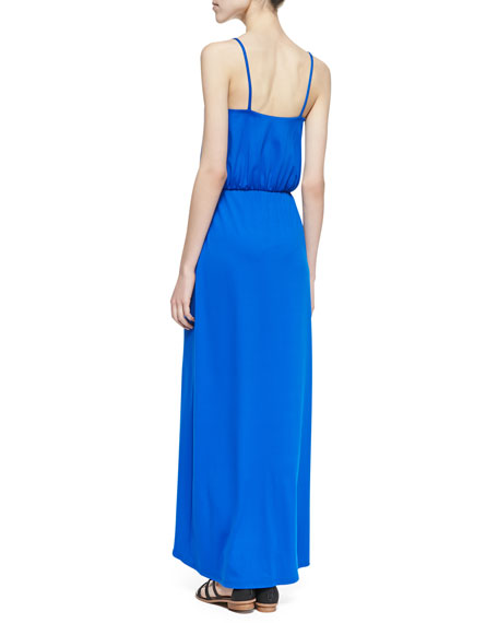 Emilia Cutaway Maxi Dress, Royal