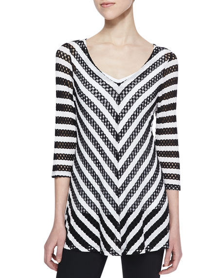 Mary Mitered Striped Top