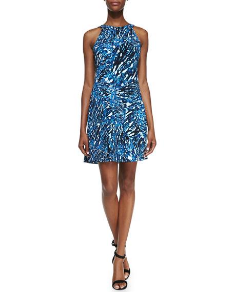 Sleeveless Blouson Printed Dress
