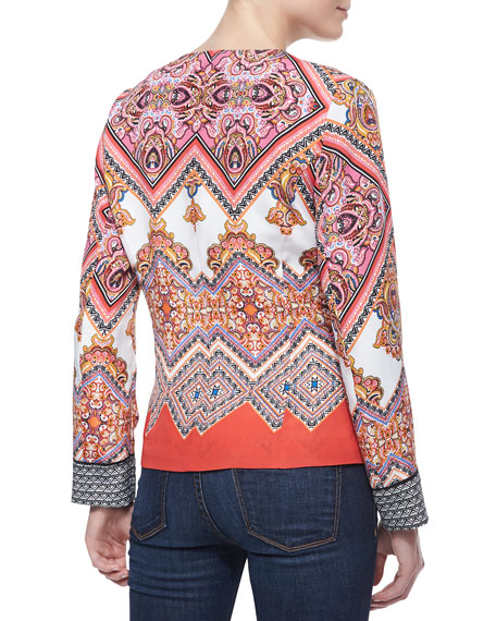 Paisley Border Printed Jacket