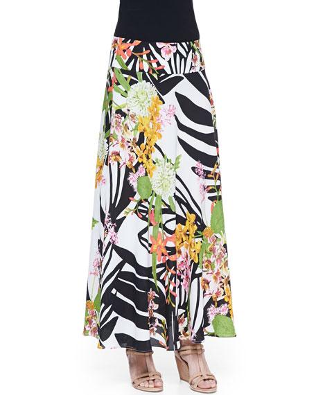 Botanical Garden Printed Maxi Skirt