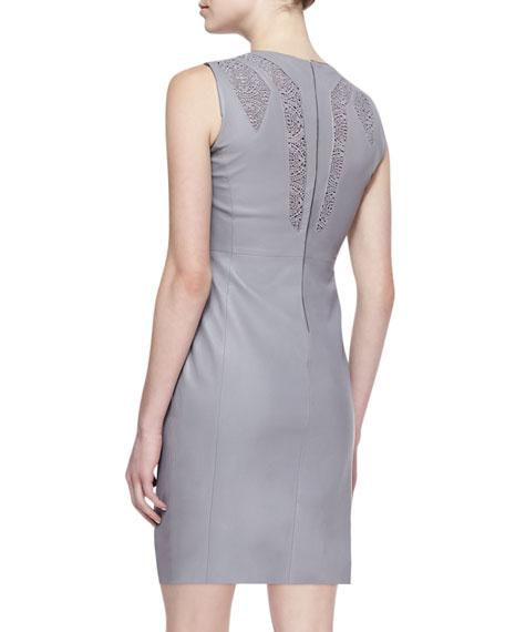 Elena Leather Cutout Dress
