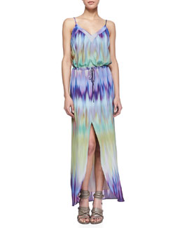 Cusp by Neiman Marcus Keith Borealis Slit Maxi Dress