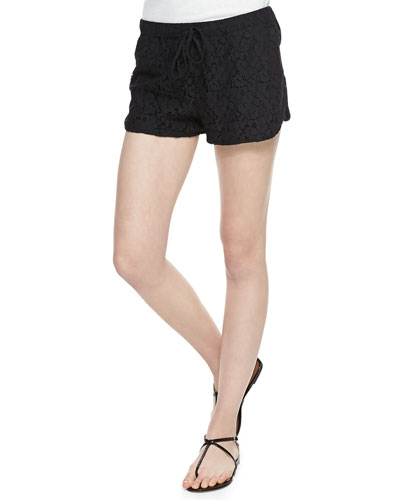 Cusp by Neiman Marcus Retro Lace Running Shorts