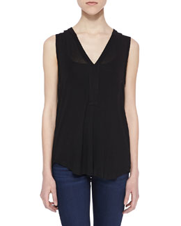 Splendid V-Neck Drapey Lux Top