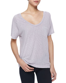 Splendid Short-Sleeve Slub Pocket Tee